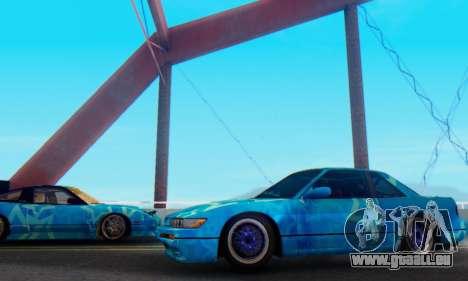Nissan Silvia S13 Blue Star pour GTA San Andreas laissé vue