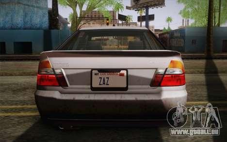 Sultan из GTA 5 pour GTA San Andreas vue de côté