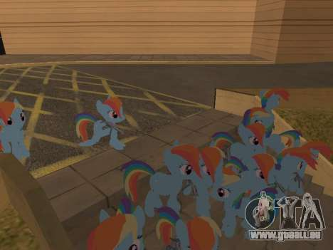 Rainbow Dash pour GTA San Andreas quatrième écran