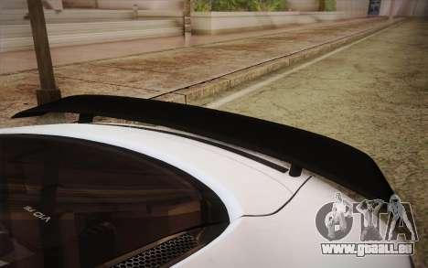 Audi R8 GT 2012 für GTA San Andreas Rückansicht