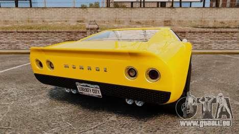 GTA V Pagassi Monroe pour GTA 4 Vue arrière de la gauche