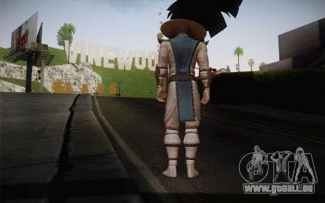 Raiden from Mortal Kombat 9 pour GTA San Andreas deuxième écran