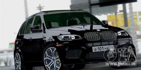 BMW X5M 2013 pour GTA San Andreas vue de droite