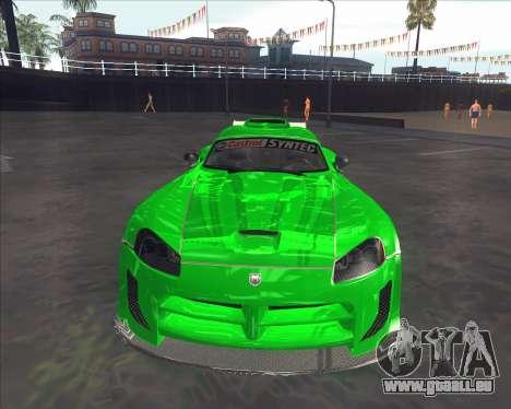 Dodge Viper SRT de NFS Most Wanted pour GTA San Andreas laissé vue