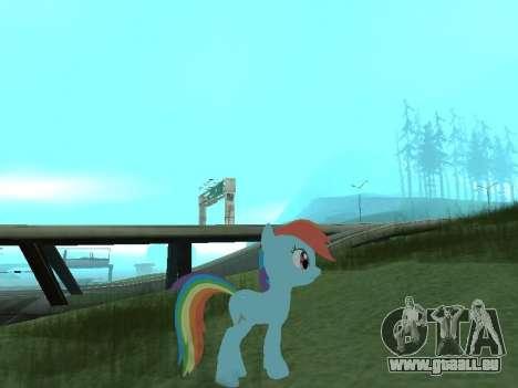 Rainbow Dash für GTA San Andreas zweiten Screenshot