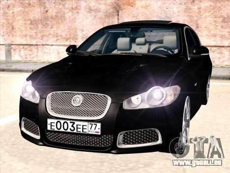 Jaguar XFR pour GTA San Andreas laissé vue