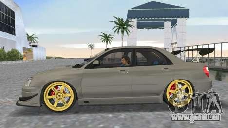 Subaru Impreza WRX STI 2005 für GTA Vice City zurück linke Ansicht