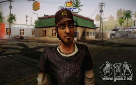 Nick из The Walking Dead pour GTA San Andreas troisième écran
