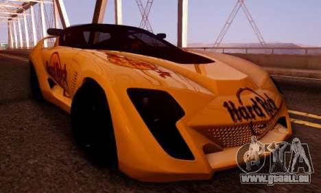 Bertone Mantide 2010 Hard Rock Cafe für GTA San Andreas Seitenansicht