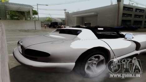 Dodge Viper RT-10 1992 pour GTA San Andreas laissé vue