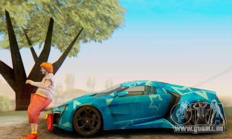 W-Motors Lykan Hypersport 2013 Blue Star für GTA San Andreas Räder