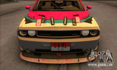 Dodge Challenger SRT8 2012 pour GTA San Andreas vue de côté