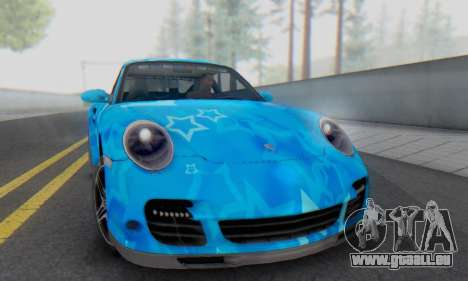 Porsche 911 Turbo Blue Star für GTA San Andreas linke Ansicht