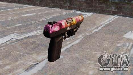 Pistole FN Fünf von sieben Punkten LAM für GTA 4 Sekunden Bildschirm
