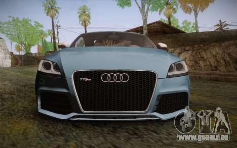 Audi TT RS 2011 pour GTA San Andreas vue arrière