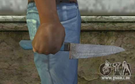 Le vieux couteau de cuisine pour GTA San Andreas troisième écran