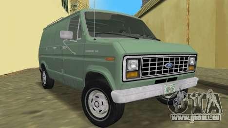 Ford E-150 1983 Short Version Commercial Van pour GTA Vice City vue arrière