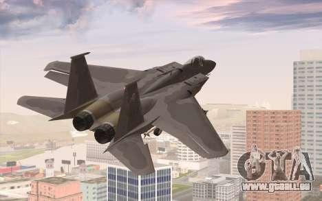 F-15C Eagle pour GTA San Andreas laissé vue