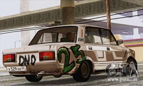 VAZ 2107 GVR pour GTA San Andreas laissé vue