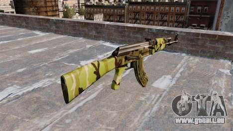 Die AK-47 Woodland für GTA 4 Sekunden Bildschirm