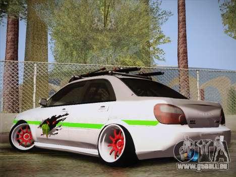 Subaru Impreza Hellaflush pour GTA San Andreas laissé vue