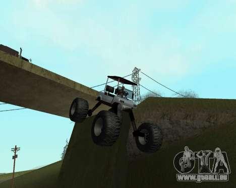 Caddy Monster Truck für GTA San Andreas zurück linke Ansicht