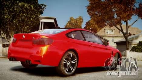 BMW M4 Coupe 2014 v1.0 pour GTA 4 est une gauche