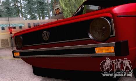 Volkswagen Golf Mk I 1978 pour GTA San Andreas vue de dessus