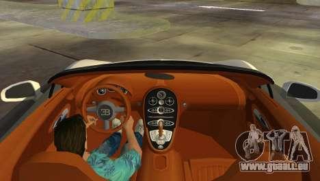 Bugatti Veyron Grand Sport Vitesse für GTA Vice City Innenansicht