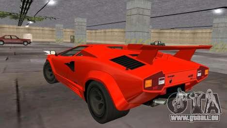 Lamborghini Countach LP5000 Extreme für GTA Vice City linke Ansicht