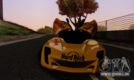 Bertone Mantide 2010 Hard Rock Cafe pour GTA San Andreas vue de dessous