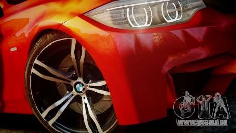 BMW M4 Coupe 2014 v1.0 pour GTA 4 est une vue de l'intérieur
