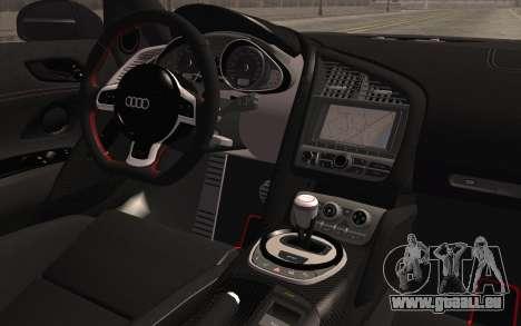 Audi R8 GT 2012 für GTA San Andreas rechten Ansicht
