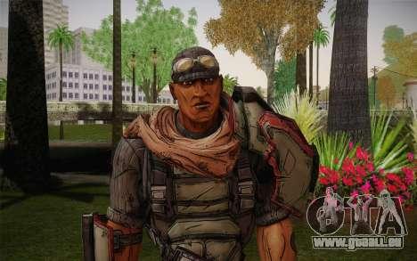 Roland из Borderlands 2 pour GTA San Andreas troisième écran