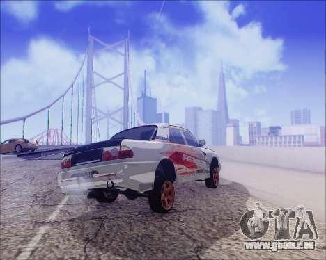 GAZ 31105 Accordables pour GTA San Andreas vue de dessous