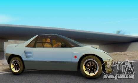 Mazda Autozam AZ-1 für GTA San Andreas zurück linke Ansicht