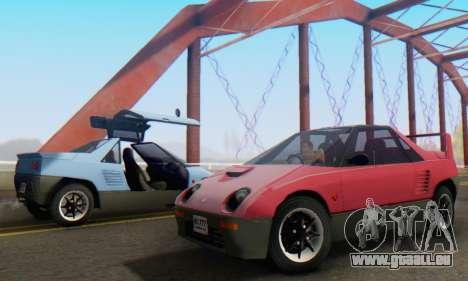 Mazda Autozam AZ-1 pour GTA San Andreas vue de côté