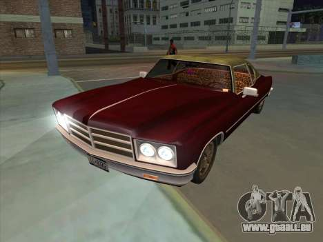 Yardie Lobo from GTA 3 für GTA San Andreas zurück linke Ansicht
