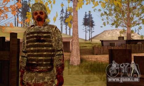 Zombie Soldier pour GTA San Andreas troisième écran