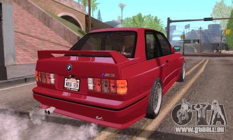 BMW E30 M3 1991 pour GTA San Andreas laissé vue