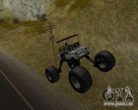 Caddy Monster Truck für GTA San Andreas rechten Ansicht