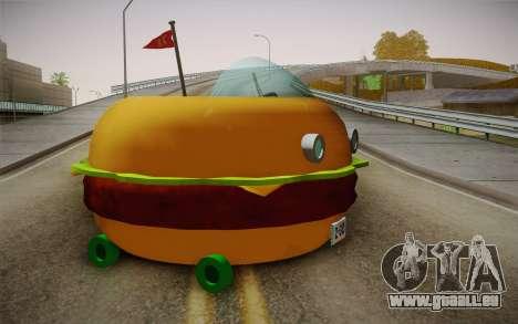 Spongebobs Burger Mobile für GTA San Andreas