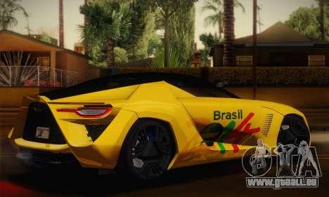 Bertone Mantide World Brasil 2010 pour GTA San Andreas laissé vue