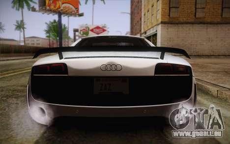Audi R8 GT 2012 für GTA San Andreas Unteransicht