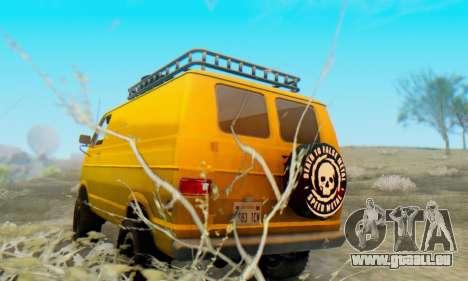 Dodge Tradesman Van 1976 pour GTA San Andreas vue de droite