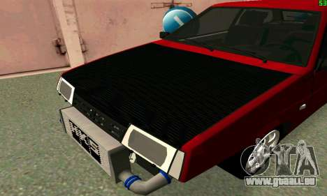 VAZ 2108 Turbo für GTA San Andreas zurück linke Ansicht