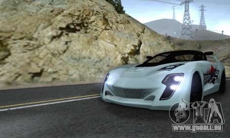 Bertone Mantide 2010 Rock Generation pour GTA San Andreas vue de dessus