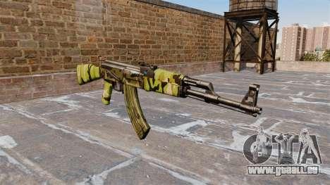 Die AK-47 Woodland für GTA 4