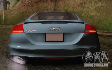 Audi TT RS 2011 pour GTA San Andreas vue intérieure