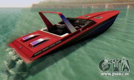 Wellcraft 38 Scarab KV pour GTA San Andreas laissé vue